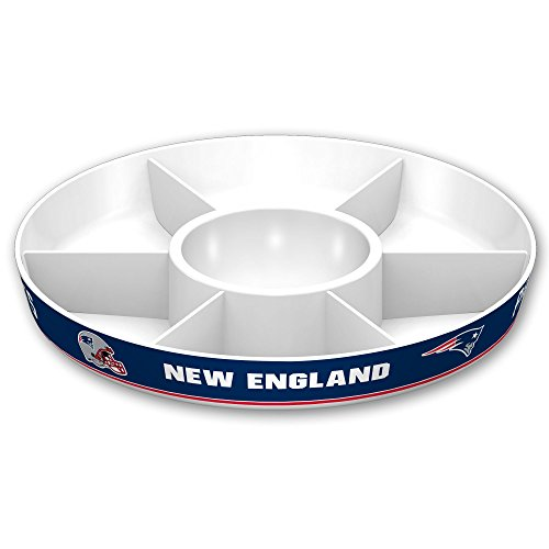- NFL New England Patriots Party Platter, White