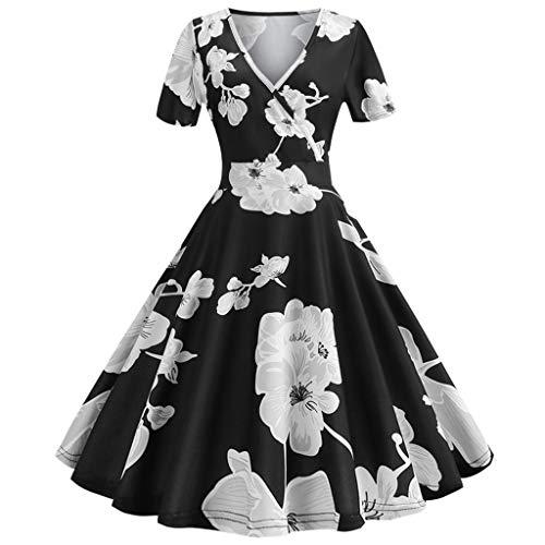 Dress Goddess Paisley - Big Sale,YetouWomens Dresses 1950s Vintage Cap Sleeve Polka Dot Rockabilly Cocktail Swing Dresses Black