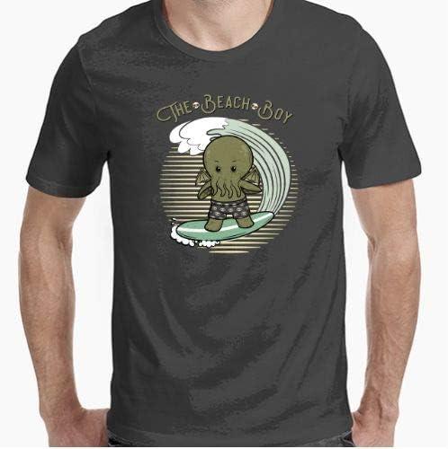 Camiseta - diseño Original - The Beach Boy Cthulhu - Parodia Friki - M: Amazon.es: Hogar
