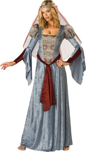 InCharacter Costumes Women's Maid Marian Costume, Blue/Burgundy/Grey, Small (Princess Renaissance Costume)