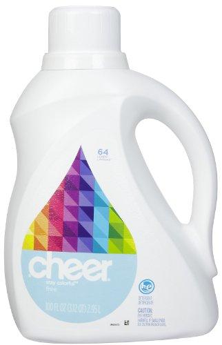 Cheer HE Liquid Detergent - 100 oz - Free & Gentle (1)