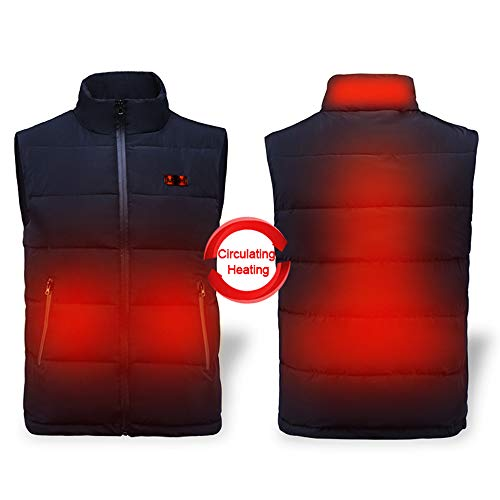 Heated Vest Lightweight 5V Battery Pack Heated Clothes for Hiking Camping Fishing