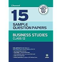 15 Sample Paper Business Studies Class 12 CBSE
