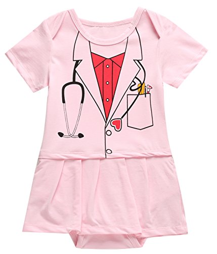 Paddy Field Halloween Baby Girls' Nurse Costume Dress (0-3 Months, nurse)