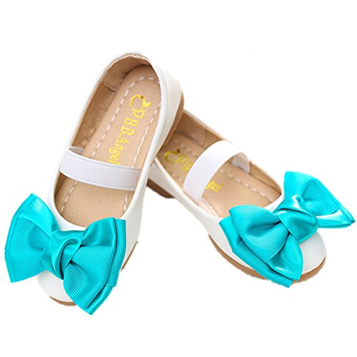 Costume Ideas Kardashian Kim (Kids Flats For Girls Shoes Sweet Girl Flower Leather Flat Shoes Princess Shoes For Children Flat Shoes (White 29/11.5 M US Little)