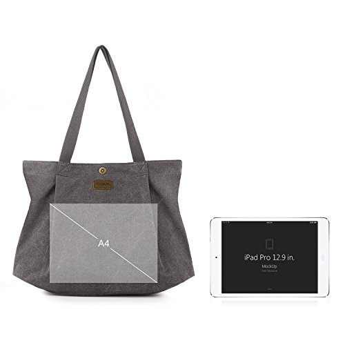 Travel Tote Bag Smriti Shopping Canvas And School Light For Women Work Grey 2 S5a0xqaw