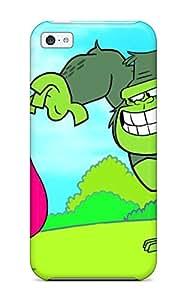 Hot Design Premium MnYWmXT1856EgryM Tpu Case Cover Iphone 5c Protection Case(ten Titans Cartoon )