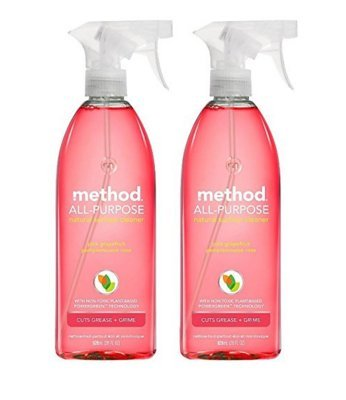 Method All-purpose Natural Surface Cleaner, Pink Grapefruit 28 Fl Oz (Pack of 2)