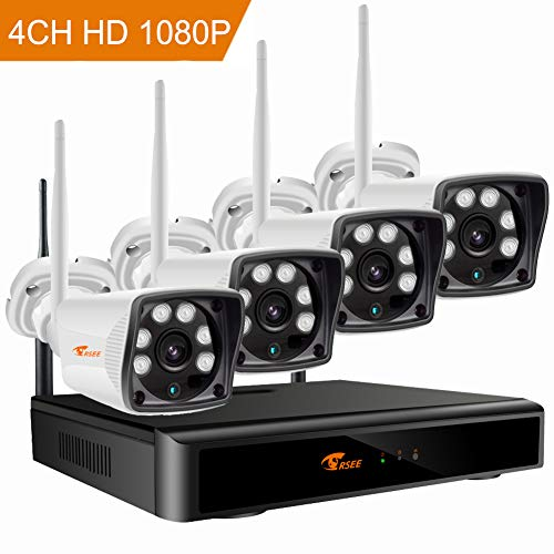 CORSEE 4CH Wireless Security Camera System, 960P HD Weatherproof WiFi Wireless Cameras NVR Kit, with Motion Detection, Alarm Function and Smartphone Remote View by ISO or Android App, No HDD CORSEE Intelligent