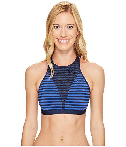 Nike Women's Laser High Neck Bra Medium Blue X-Large (Nike Swim Bra)