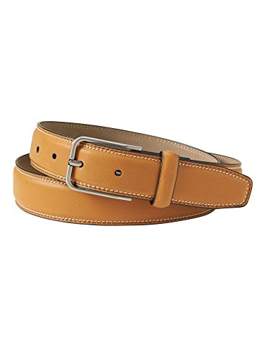 Banana Republic Men's Synthetic Leather Casual Belt Tan Brown 38W (Banana Republic Leather Belt)