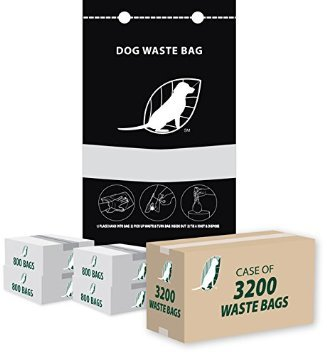 Single Pull Bags for Dog Waste Station Refill Bags Total 3,200 Bags by Canine Cleanup