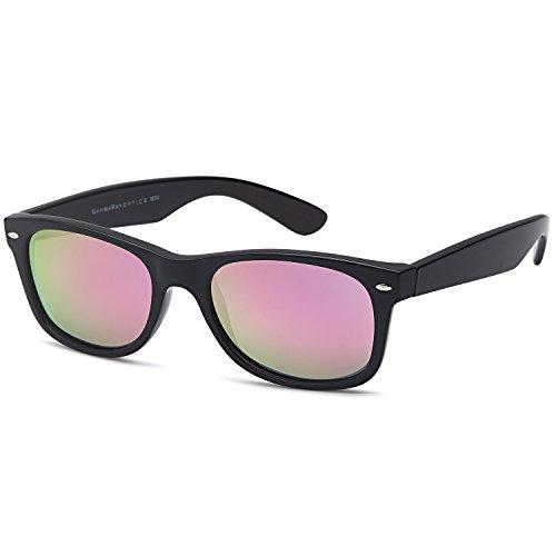 GAMMA RAY Polarized UV400 Sunglasses Small – Mirror Pink L