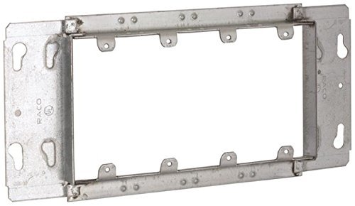 Welded Box - Hubbell-Raco 823 3/4-Inch Raised 4 Gang Welded Box Mud Ring by HubbellRaco