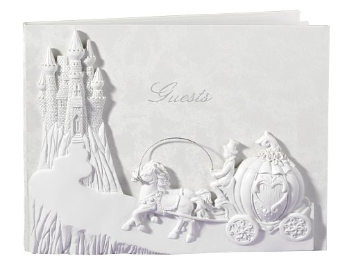 Hortense B. Hewitt One Upon A Time Guest Book, 9.75 x 7.675 Inches, Pearlescent - Princess Shops Brides Bridal