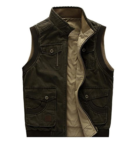 Amoystyle Men's Durable Reversible Outdoor Casual Vests hot sale