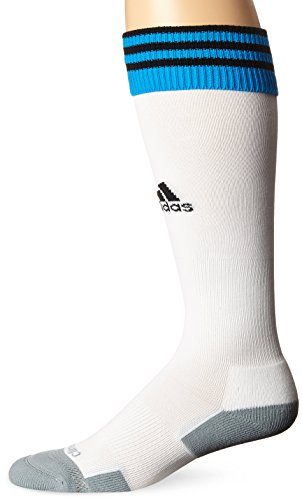 adidas Copa Zone Cushion II Soccer Socks, White/Solar Blue/Black, Small (Adidas Elite Sock)