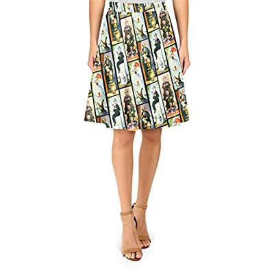 Queen of Cases Haunted Mansion Stretch Paintings A-Line Skirt