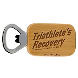 Gone For a Run Triathletes Recovery Maple Bottle Opener