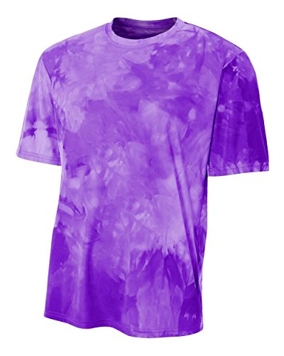 Authentic Sports Shop Purple Youth Small Cloud Dye Tech Moisture Wicking Cool Base Tee