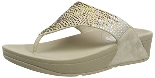FitFlop Women's Flare, Pebble, 8 M (B)