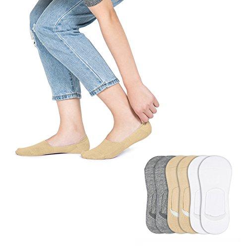 HaloVa Women Socks, Low Cut No Show Liner Cotton Socks, 6 Pairs -