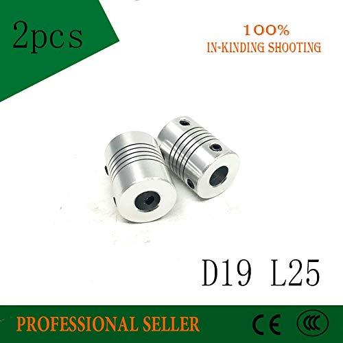 Fevas D19 L25 Aluminium Flexible Jaw Shaft Coupling CNC Stepper Motor Coupler Encoders Engraving Machine D19xL25 - (Inner Diameter: 8x10)