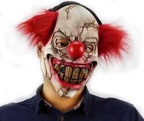 Scary Creepy Demon Clown Mask Halloween Party Cosplay Props Zombie Costume Decoration ()