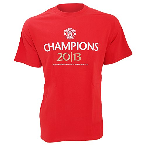 Manchester United FC Mens Official Football Champions 2013 T-Shirt (XXL) (Red)