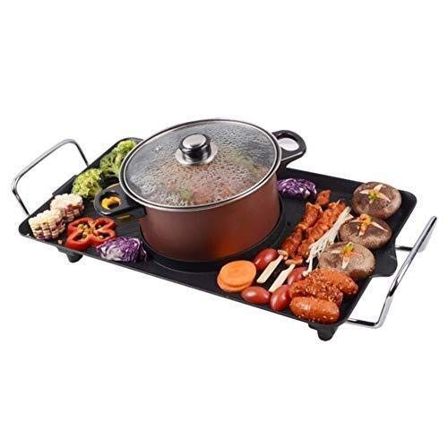 ZPWSNH Non-Smoking Electric Hot Pot, Grille Non-Stick Multi-Purpose Barbecue Hot Pot, New U-Shaped Design Heating Tube Barbecue Pot by ZPWSNH