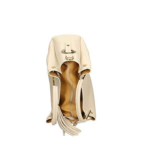 in cuir Sac Beige Aren main Cm Made femme en 33x30x13 à Italy véritable qwwXp8