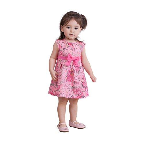 Gum Apparel Infant Bubble (Pulla Bulla Baby Girl Floral Style Bow Dress 9-12 Months Bubblegum)