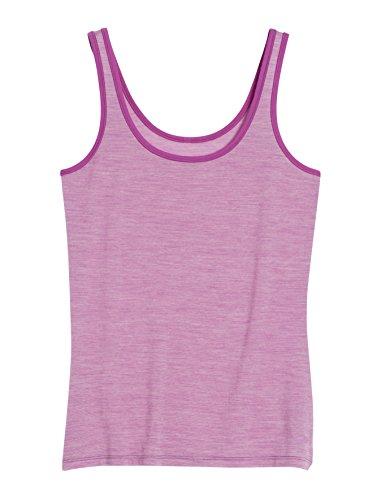 Icebreaker Women's Siren Tank Top, Sweetpea/Snow/Sweetpea, Medium - Ice Breaker Wool Shirt