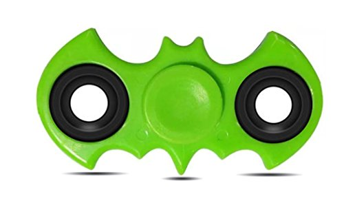 BATMAN Hand spinner fidget toy , High Speed Spinner Fidget 2 Sided Spinner Toy, Batman Fidget Spinner, Stress Reducer Relieves ADHD, EDC Focus Toy (LIGHT GREEN)