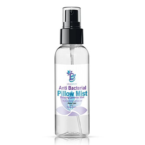 Diva Stuff Anti-Bacterial Pillow Mist  Promotes Clear Skin  Made in the USA with Safe Ingredients  4 fl. oz.