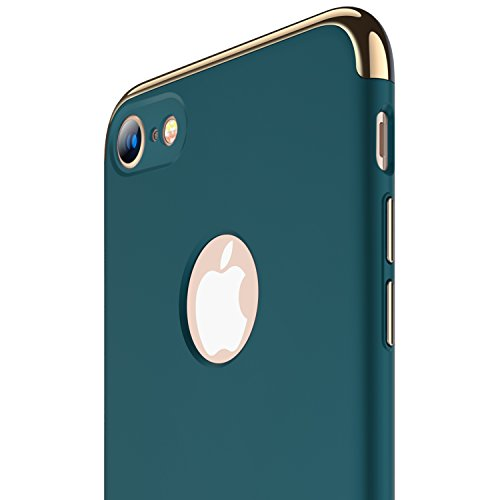 iPhone 8 case, RANVOO Slim Fit Hard Thin Stylish Cover with 3 Detachable Parts [Support Wireless Charging] Case for Apple iPhone 8 Only,DARK GREEN [CLIP-ON] by RANVOO