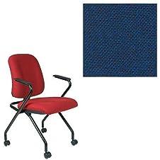 Office Master PT Collection PT70N Ergonomic Nesting Chair - Fixed Standard Armrests - Grade 1 Fabric - Basic Blue 1005 PLUS Free Ergonomics eBook