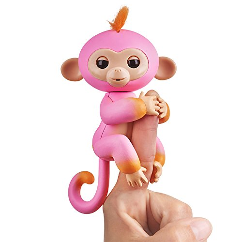 Fingerlings 2Tone Monkey - Summer (Pink with Orange Accents) - Interactive Baby Pet