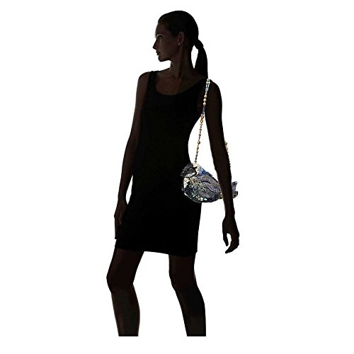 Mary Beaded Black Bag White Bird Jeweled Shoulder Song Blue Novelty Handbag Frances rRq0fr