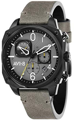 (AVI-8 Mens Hawker Hunter Watch - Grey/Black)