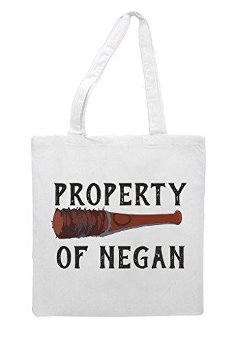 White Shopper Tote Property Negan Sublimation Of Zombie Bag Of Property qOOpw1H