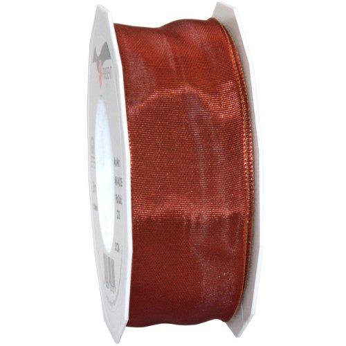 Morex Ribbon French Wired Lyon Fabric Ribbon, 1-1/2-Inch by 27-Yard, Cinnamon