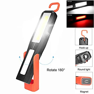 Gotian LED Magnetic Work Light Car Garage Mechanic Home Rechargeable Torch Lamp ~ Suitable for Self-Defense, Camping, Trekking, Night Riding, Car Repair