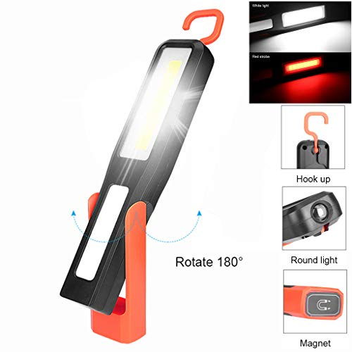 (Gotian LED Magnetic Work Light Car Garage Mechanic Home Rechargeable Torch Lamp ~ Suitable for Self-Defense, Camping, Trekking, Night Riding, Car Repair)