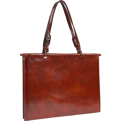 HIDESIGN by Scully Slim Fashion Tote Handbag Brief,Mahogany,one size by Scully
