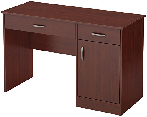 South Shore 7246070 Small Computer Desk with Drawers, Royal Cherry