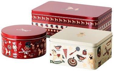Ikea Snökul - Set de cajas de galletas (metal), diseño de Navidad: Amazon.es: Hogar