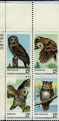 amazon com american owls 4 15 cents us postage stamps 1760 63 by