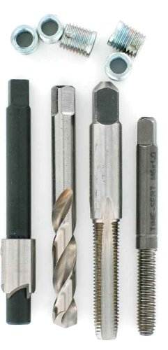 9 mm Installed Length Pack of 10 M6-1.0 Thread Size E-Z Lok SK40615 Metric Helical Threaded Insert Kit 304 Stainless Steel