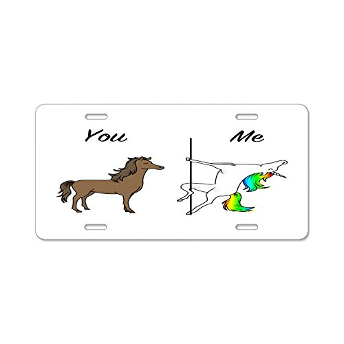 Pulongpoq Automobile Plate Covers - You And Me Unicorn - Aluminum License Plate, Front License Plate, Vanity Tag